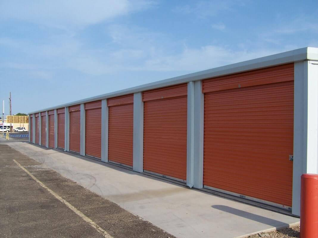 American Steel Buildings - Building with Orange Doors