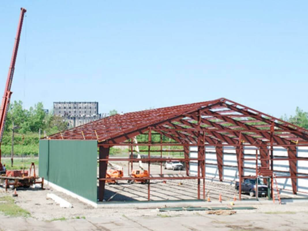American Steel Buildings - Construction of a Steel Building