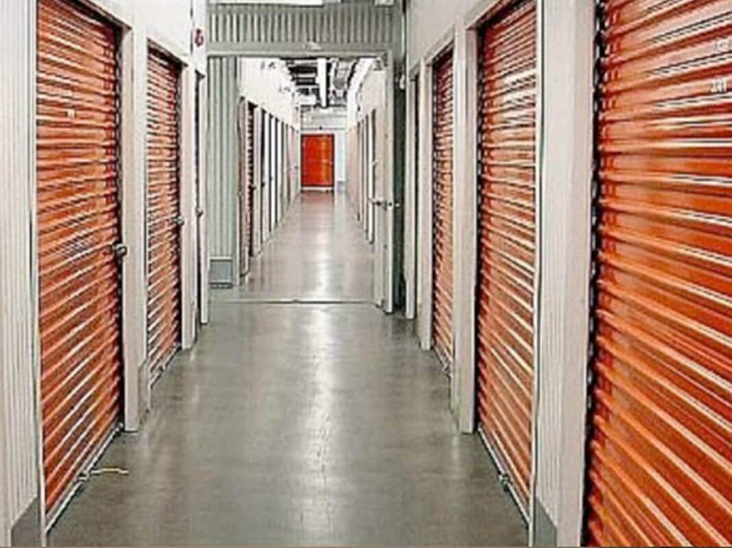 American Steel Buildings - Inside a Building with Orange Doors