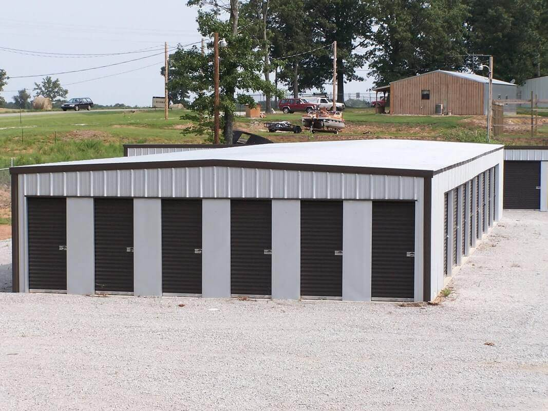 American Steel Buildings - Building with Black Doors